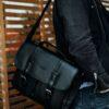 Neformální  taška přes rameno LANARK černá
