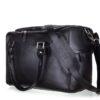 Víkendová taška z pravé kůže Dratford  černá