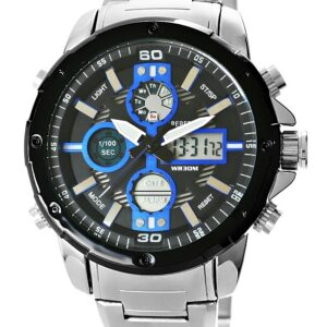 original Zegarek Meski Perfect A8026B 2 Dual Time Iluminacja i Fluorescencja 274913 0c20274c9e34
