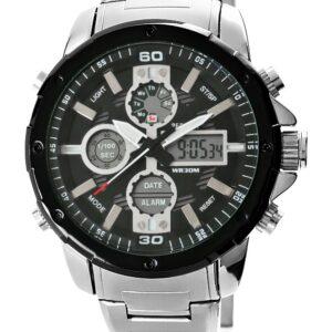 original Zegarek Meski Perfect A8026B 2 Dual Time Iluminacja i Fluorescencja 275038 0c20274c9e34