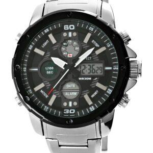 original Zegarek Meski Perfect A8026B 4 Dual Time Iluminacja i Fluorescencja 275033 0c20274c9e34