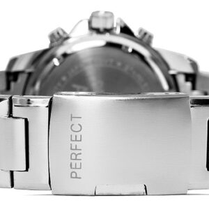 original Zegarek Meski Perfect A8026B 4 Dual Time Iluminacja i Fluorescencja 275037 0c20274c9e34