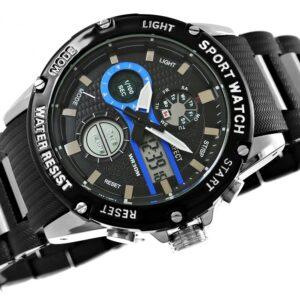 original Zegarek Meski Perfect A8031 1 Dual Time Fluorescencja 274940 0c20274c9e34