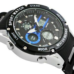 original Zegarek Meski Perfect A8031 1 Dual Time Fluorescencja 274941 0c20274c9e34