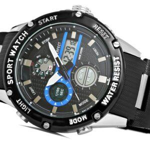 original Zegarek Meski Perfect A8031 1 Dual Time Fluorescencja 274942 0c20274c9e34