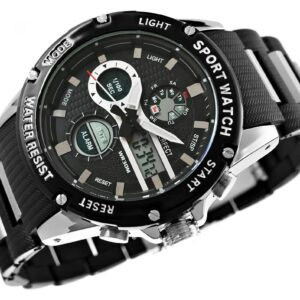 original Zegarek Meski Perfect A8031 1 Dual Time Fluorescencja 275024 0c20274c9e34