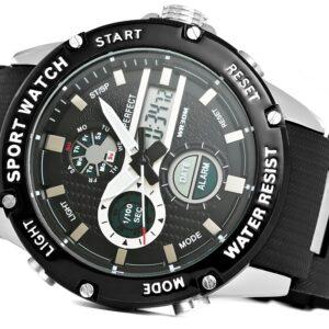 original Zegarek Meski Perfect A8031 1 Dual Time Fluorescencja 275026 0c20274c9e34
