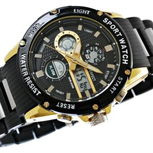 original Zegarek Meski Perfect A8031 2 Dual Time Fluorescencja 274950 0c20274c9e34