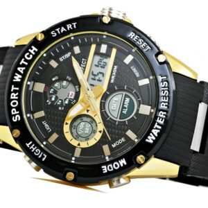 original Zegarek Meski Perfect A8031 2 Dual Time Fluorescencja 274952 0c20274c9e34