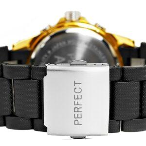 original Zegarek Meski Perfect A8031 2 Dual Time Fluorescencja 274953 0c20274c9e34