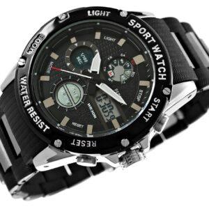 original Zegarek Meski Perfect A8031 4 Dual Time Fluorescencja 275029 0c20274c9e34