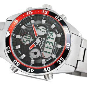 original Zegarek Meski Perfect A816 1 Dual Time Iluminacja 274605 0c20274c9e34