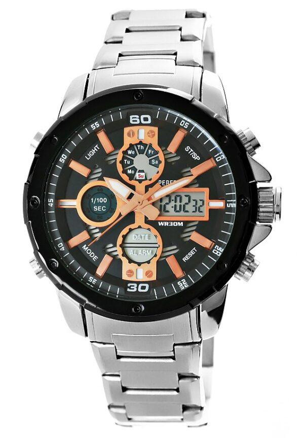 original Zegarek Meski Perfect A880 1 Dual Time Iluminacja 274902 0c20274c9e34